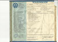 Original VWoA dealer window sticker 1972