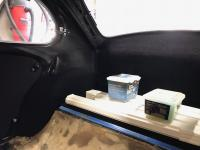 72 super beetle project rear carpet install