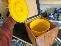 1974 Westfalia Box with Yellow Pail - Bucket