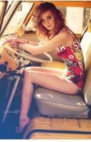 Cute Girl in a Bus