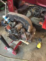 '66 Bus Engine removed