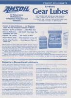 Amsoil synthetic transmission oil - 1991/92 product data