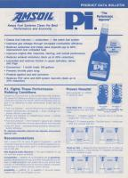 Amsoil miscellaneous products - 1991/92 product data
