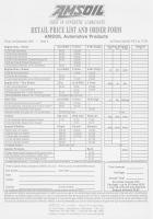 Amsoil products - December 1991 price list