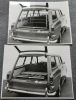 Squareback with rack in rear trunk area