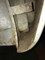 Driver's Side Hinge Rust Hole