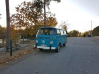 Reef blue vw bus bay window