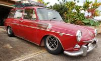 American racing spectre wheels slammed squareback Hawaii