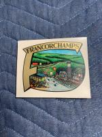 Period Spa Francorchamp Water Decal
