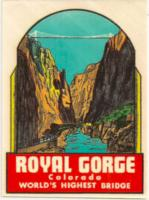 Travel water decal Royal Gorge.