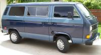 two tone blue vanagon