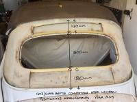 1979 convertible rear window measurements.