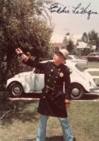 Eddie Leveque 1975 Keystone Kops outfit with VW Bug