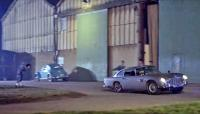 "Blue oval window Beetle in ""Goldfinger"" chase"
