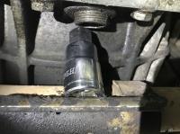 Gear oil change problem accessing the drain plug