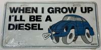 Beetle Diesel license plate