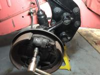 Removing bus front brake assembly from spindle