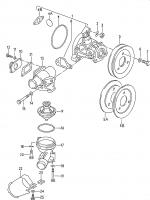 Water pump thermostat housing 1.9ltr. Illustration