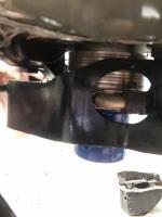 SC engine mount oil filter cooler