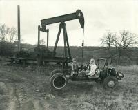 Texas oil rig and Beetle pan Buggy