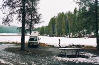 Idaho snow camping