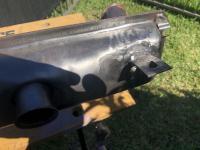 Exhaust welding brake push bar fix