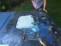 Fiberglass repair Vanagon pop top