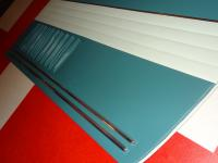 Ghia Ice Blue & Turquoise door panels by SMS Auto Fabrics