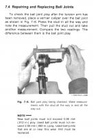 ball joint play measurement
