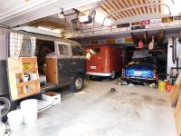 "views of my ""shelter in place"" 7-car garage..."