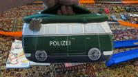 "Soft ""Polizei"" small zippered Split-bus bag with handle"