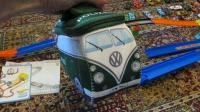 """Soft """"Polizei"""" small zippered Split-bus bag with handle"""