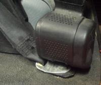 retractable seat belt mount