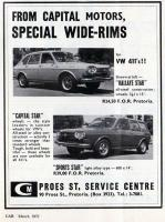 Optional wheels for the 411 - South Africa 1972