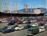 VW's on the dock in Vancouver BC