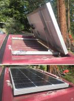 Westy rooftop cargo solar panel mounting