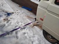 Van in the snow...