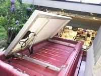 Solar panel in Westy cargo area
