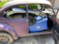 '74 Super Beetle project 1st day packed with stuff