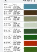1970 Porsche Glasurit Paint Samples