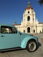 1971 Super Beetle in front of Pasadena City Hall