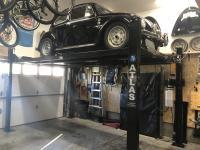 '58 VW Beetle on 4 Post Lift