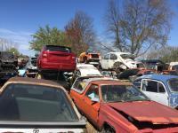 AT the junkyard