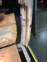 1966 21 window B pillar repair