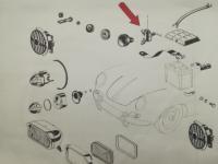 Installation of the Bosch cutout in the original teilliste