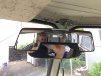 67 Westy temporary door windows & mirror