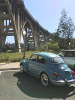 1971 super beetle under the Colorado Street Bridge