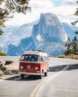 Camper at Yosemite Natl. Park