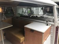 67 westy curtains, rear bumper and side step installed