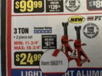 Harbor Freight jack stand